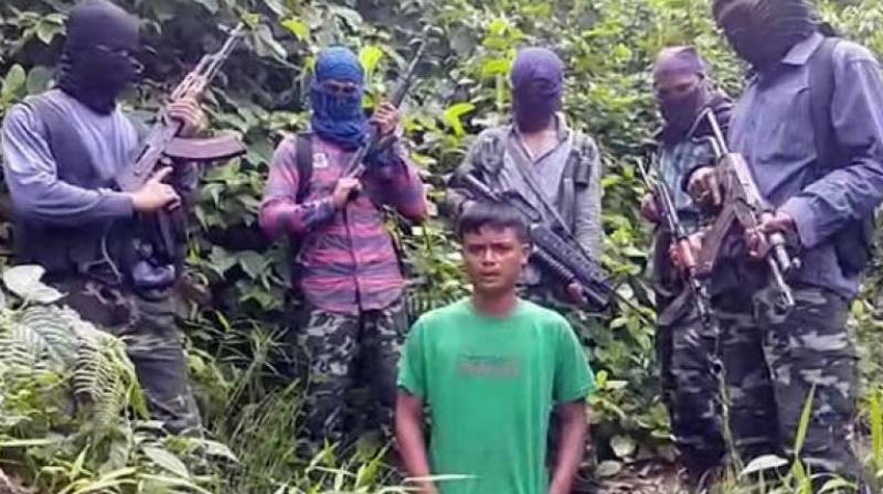 Kuldeep Moran, son of Tinsukia district panchayat vice-president Ratneshwar Moran, was abducted from Nampong in Changlang district on August 1. (Photo: Videograb)