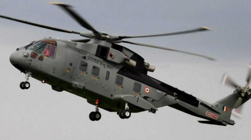 A file photo of AgustaWestland (AW101) VVIP Airforce Helicopter. (Photo: PTI)