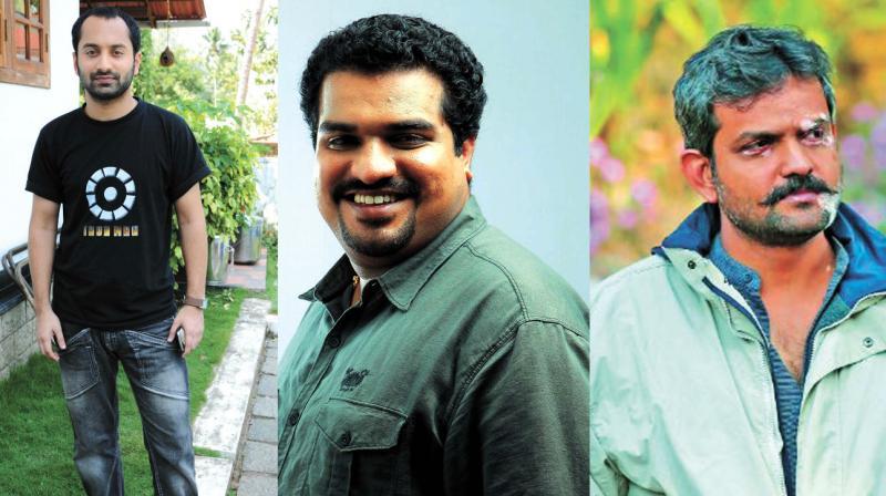 Fahadh Faasil, Rajeev Ravi and Dileesh Pothen