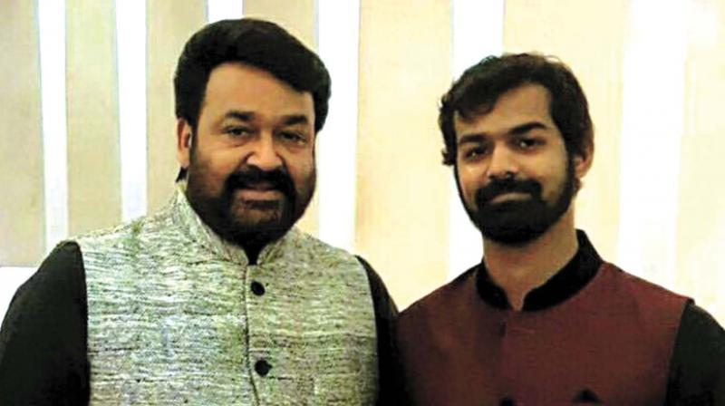 Mohanlal with his son Pranav