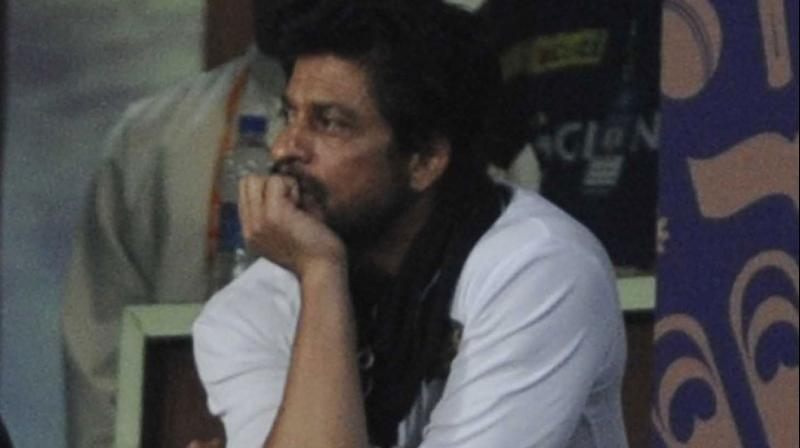 Bollywood star Shah Rukh Khan was left rather dejected at the Eden Gardens on Sunday, as they lost the match to Gujarat Lions. Photo: Viral Bhayani