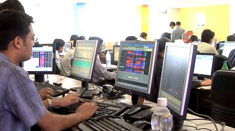 Sensex jumped 216 points with exit poll signals