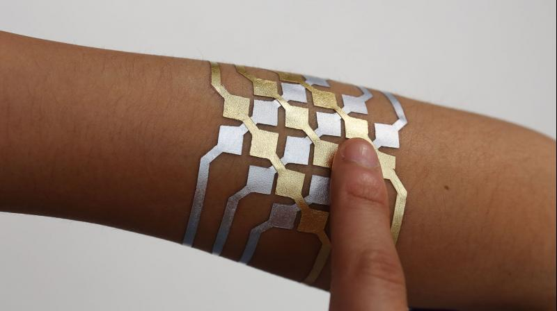 Using DuoSkin, MIT Media Lab and Microsoft Research created on-skin input elements that resemble traditional user interfaces, such as buttons, sliders, and 2D trackpads.