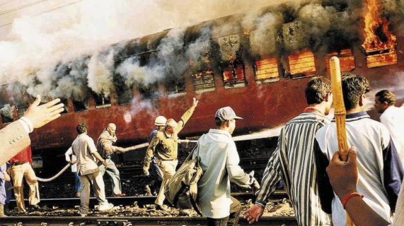 An unused railway coach was on Sunday set on fire during the enactment of the 2002 Godhra train burning incident for a documentary on Prime Minister Narendra Modi. (Photo: File)