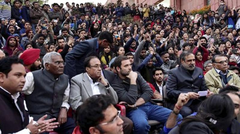 Image result for D Raja Rahul Gandhi