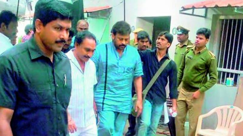 Incidentally, the number on Chiranjeevi's uniform is 150.