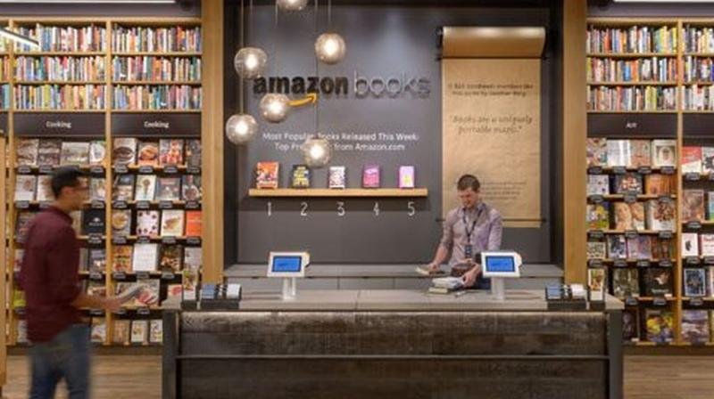 Amazon's first book store in Seattle.