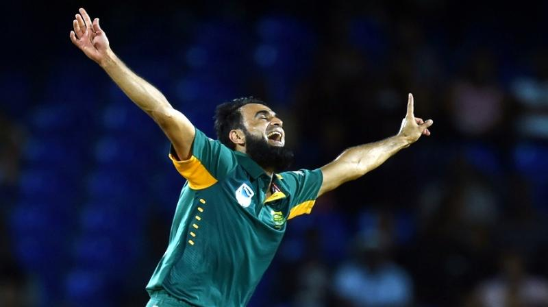 Along the way, Imran Tahir, in his 58th match, surpassed the record of Morne Morkel as the fastest South African to 100 ODI wickets in terms of matches played. (Photo: AFP)
