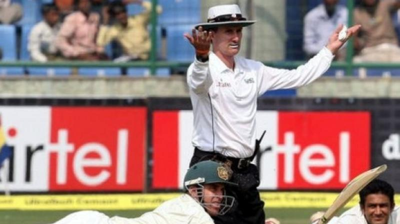 The 53-year-old Bowden, who officiated in 84 tests and 200 one-day internationals over 21 years, amused cricket fans with his eccentric signals, especially the crooked finger with which he indicated dismissals. (Photo: AFP)