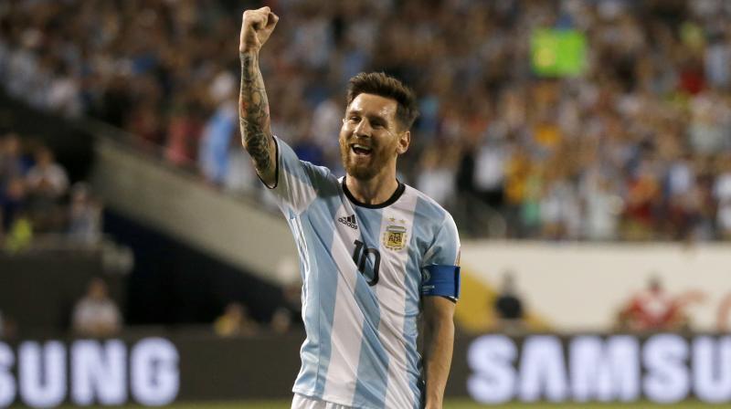 4f82ca69b Argentina's Lionel Messi celebrates after scoring a goal. (Photo: AP)
