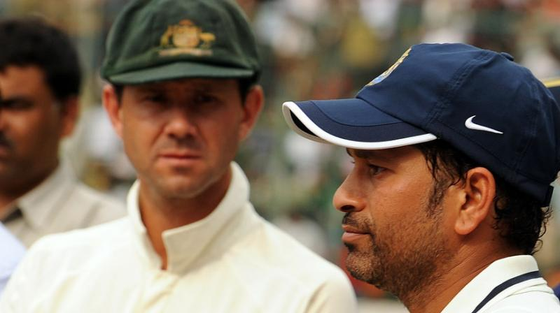 "Former Australian skipper Ricky Ponting chose five words to describe Sachin Tendulkar --  ""competitive, passionate, driven, composed, complete"". (Photo: AFP)"