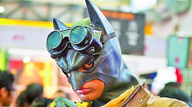 Cosplaying: Bharath Kumar as Desert Storm Batman