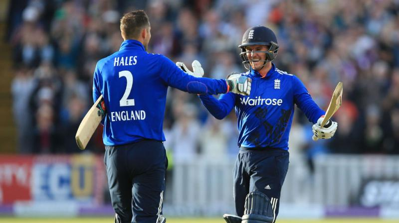 Jason Roy and Alex Hales' unbroken opening stand surpassed England's record ODI partnership of 250 set by Andrew Strauss and Jonathan Trott for the second wicket against Bangladesh at Edgbaston in 2010. (Photo: AP)