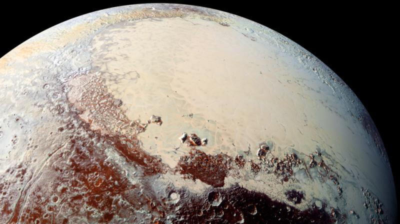 Icy, rocky Pluto had been the smallest of the nine planets