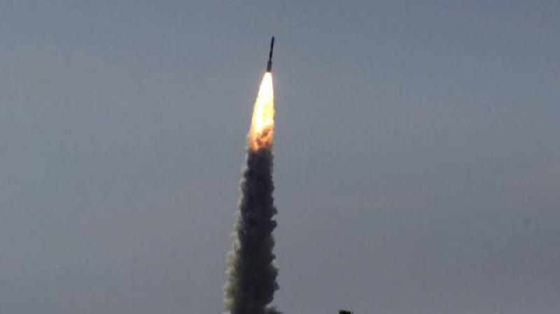 Isro hoisted its heaviest-ever satellite from Indian soil, the 2,211-kg Insat-3DR, using an indigeno-us cryogenic engine — a complicated stage that uses hydrogen and oxyg-en as fuel. (Representational image)