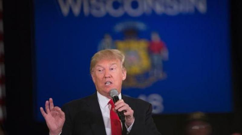 Republican presidential candidate Donald Trump speaks to guests during a campaign rally on March 30, 2016 in Appleton, Wisconsin. (Photo: AFP)