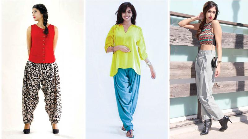 In keeping with the trend, one of the biggest pluses about slouchy pants is how it's spot on for all body types.