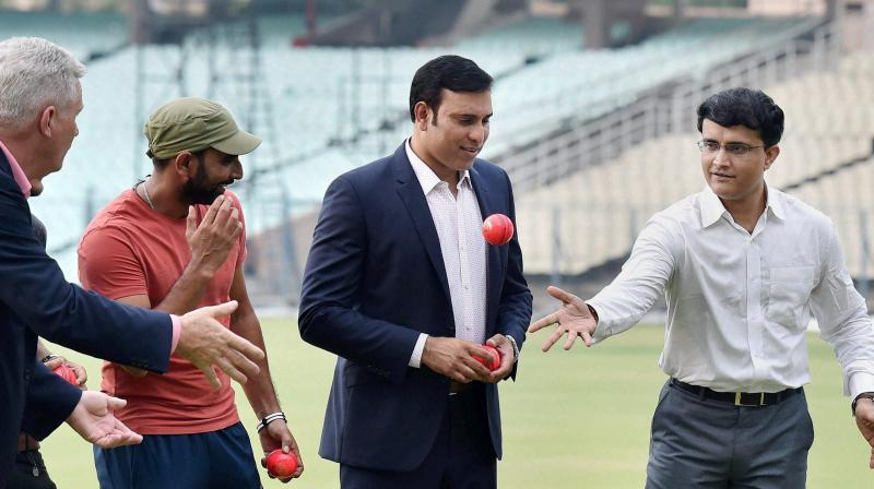 With Eden Gardens set to host the country's first day-night match with a pink ball in club cricket, an expert panel comprising Sourav Ganguly, VVS Laxman and Dean Jones on Thursday strongly felt that the innovation is here to stay. (Photo: PTI))