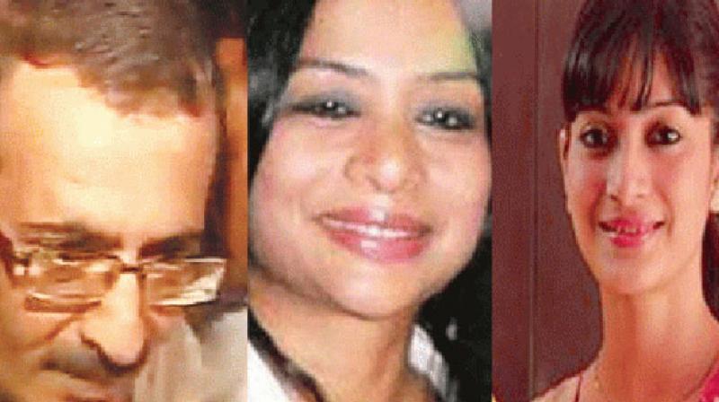 Sanjiv Khanna, Indrani Mukherjea and Sheena Bora. (Photo: Facebook/DC)