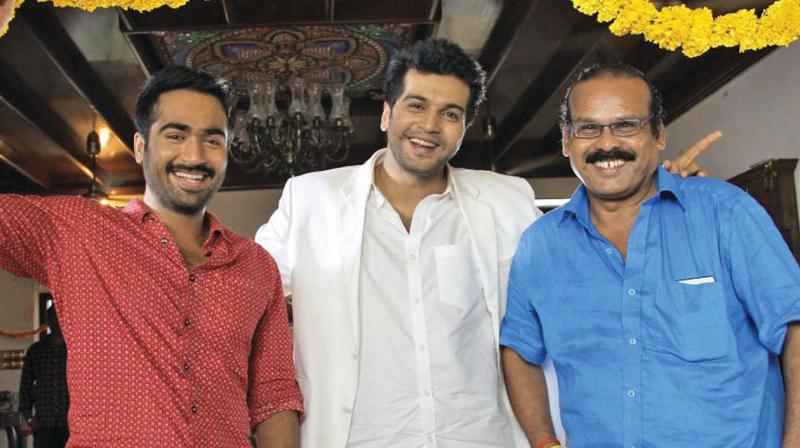 Nethra crew on the sets