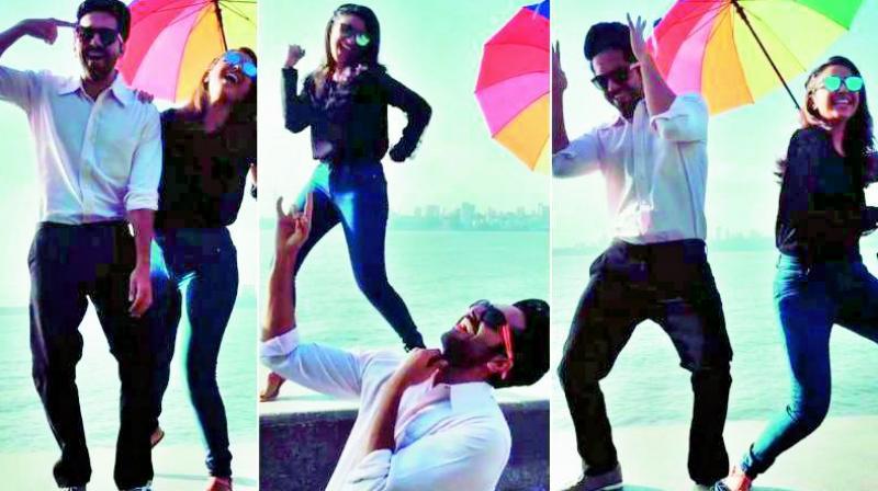 Ayushmann and Parineeti dancing at Marine Drive