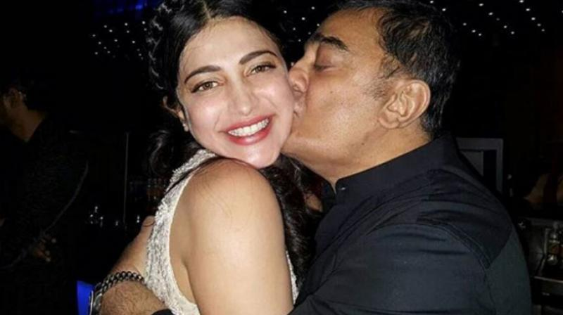 Shruti Haasan with her father Kamal Haasan