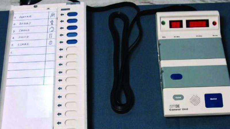 The state election commission in court clearly said the present EVM machines are completely safe/ non- hackable. (Photo: Representational/PTI)