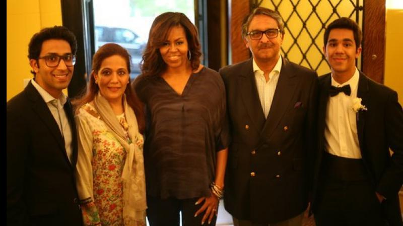 The first lady was invited to his residence, the Pakistan House, to participate in his son's graduation party. (Photo: Twitter)