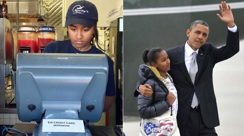 The Obamas' youngest daughter has been working an early four-hour shift at the busy, 350-seat restaurant, finishing up just a half hour after it opens for business at 11:30 AM. (Photo: AP)
