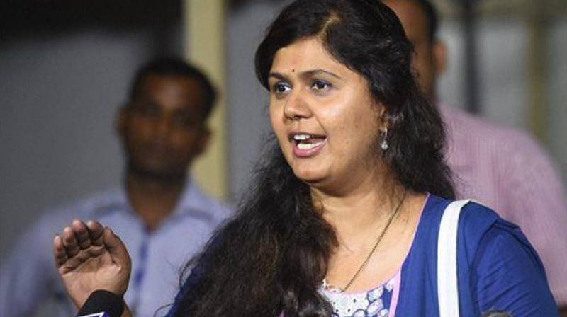 Maharashtra Women and Child Welfare Minister Pankaja Munde fainted on the dais while addressing a campaign rally at Parli in Beed district on Saturday. (Photo: File)