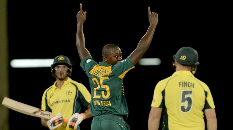 Kagiso Rabada shared the plaudits with a useful unbeaten 15 as the tail contributed important runs and then led the way with the ball as he claimed three for 13 off seven probing overs. (Photo: AFP)