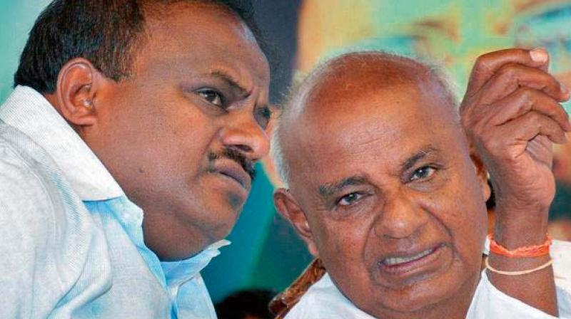 Image result for devegowda with kumaraswamy