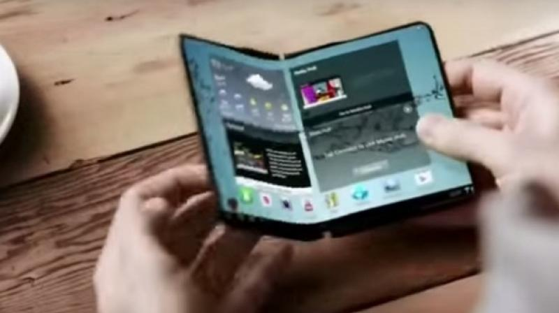 The rumoured foldable smartphone with dual-camera is expected to be unveiled at the Mobile World Conference (MWC) or the Consumer Electronic Show (CES).