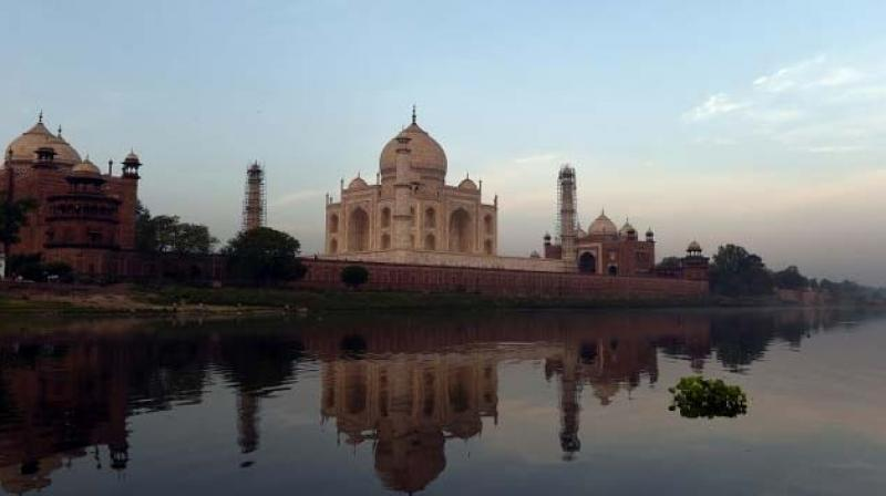 The Supreme Court had in May expressed concern over the change of colour of the Taj Mahal and asked the government what it was doing about it. (Photo: AFP)