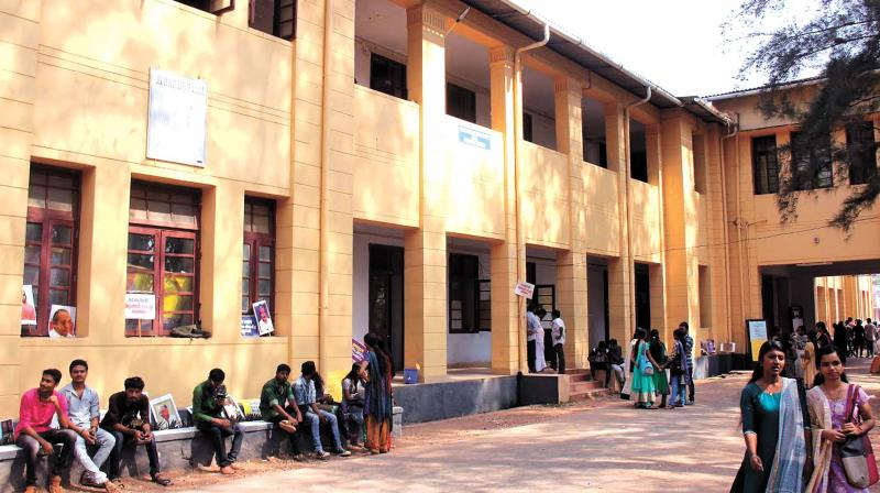 The institution moved to the new building at Dharmadam from Thalassery town in 1958.  In January 2011, it got A Grade from the National Assessment and Accreditation Council. 	(Photo:  DC)