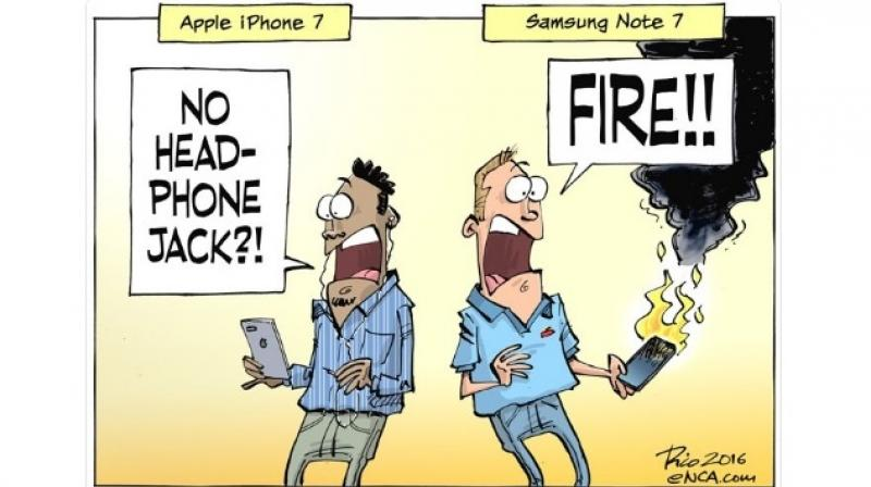 Though Samsung has confessed to faulty batteries, which are the main reasons for the fire and explosions, the internet reacted even faster with funny jokes, images and memes.