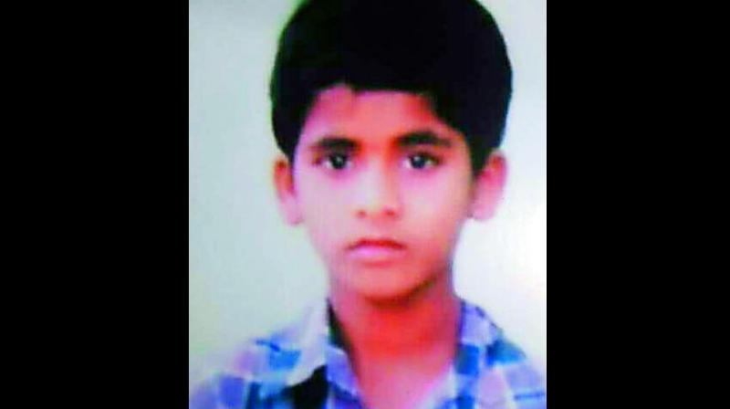 Class VII student - U. Anish, went missing from home on Sunday.