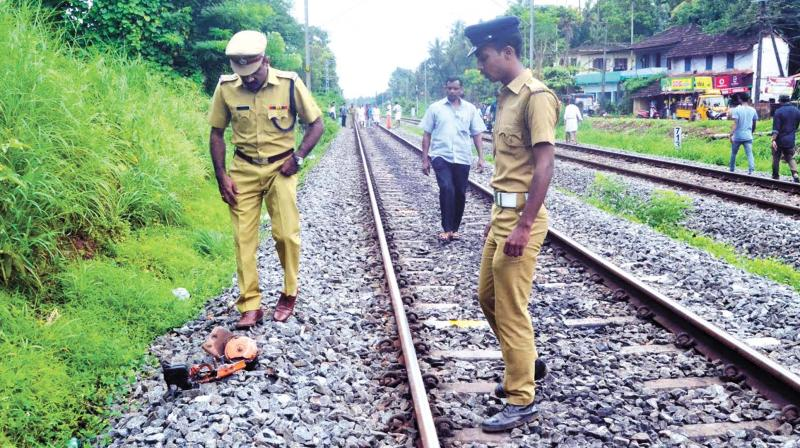 Train runs over scooter on track at Pallithazha
