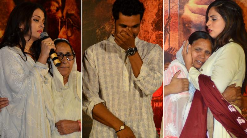 'Sarbjit' stars Aishwarya Rai Bachchan, Randeep Hooda, Richa Chadha along with their director Omung Kumar, came together to commemorate the third death anniversary of Sarabjit Singh. Photo: Viral Bhayani