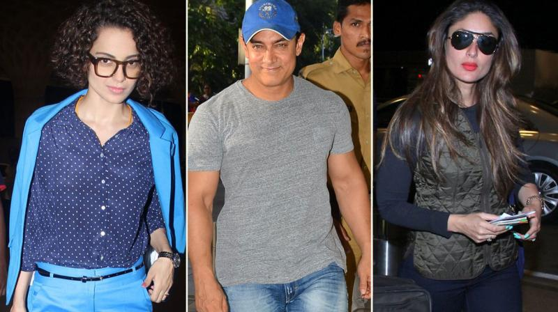 It was a star studded day at the airport, as Bollywood stars like Aamir Khan, Kangana Ranaut, Kareena Kapoor Khan and more headed out of the city. Photo: Viral Bhayani