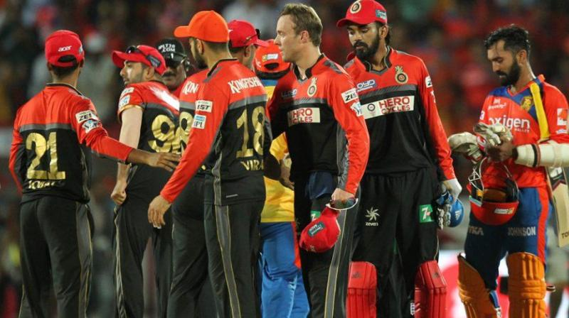 A loss against Gujarat Lions will shatter Virat Kohli-led Royal Challengers Bangalore's hopes to make it to playoffs. (Photo: BCCI)