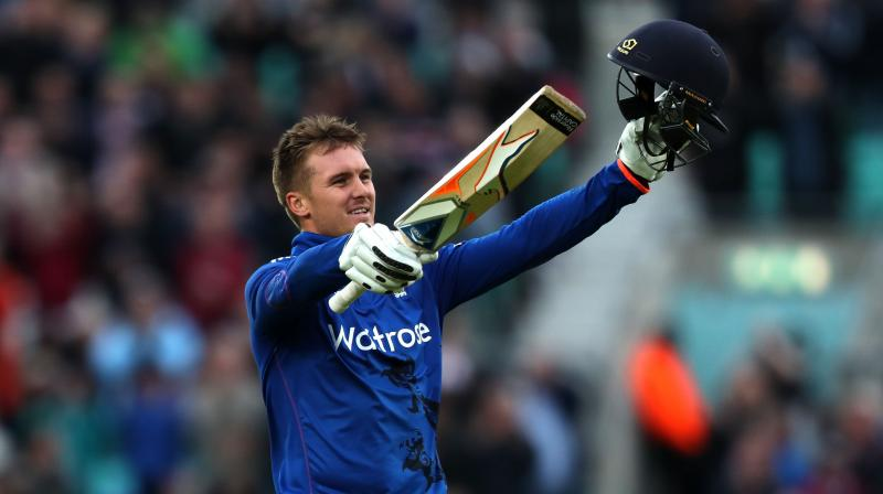 Jason Roy thrilled the England fans with 13 fours and three sixes before being bowled by Nuwan Pradeep. It was his second century in three ODIs. (Photo: AP)