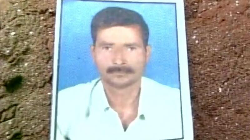 Girl's father who was beaten to death by eve-teasers. (Photo: ANI Twitter)