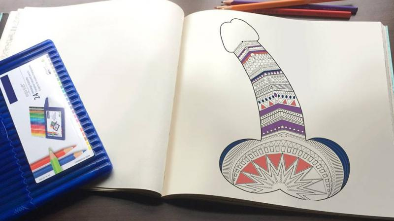 watch: new penis colouring books aim to keep you stress-free