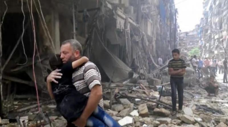 The activists said one of Wednesday's strikes hit near the Bayan hospital in the rebel-held Shaar neighborhood, killing 10 people.  (Representational image)