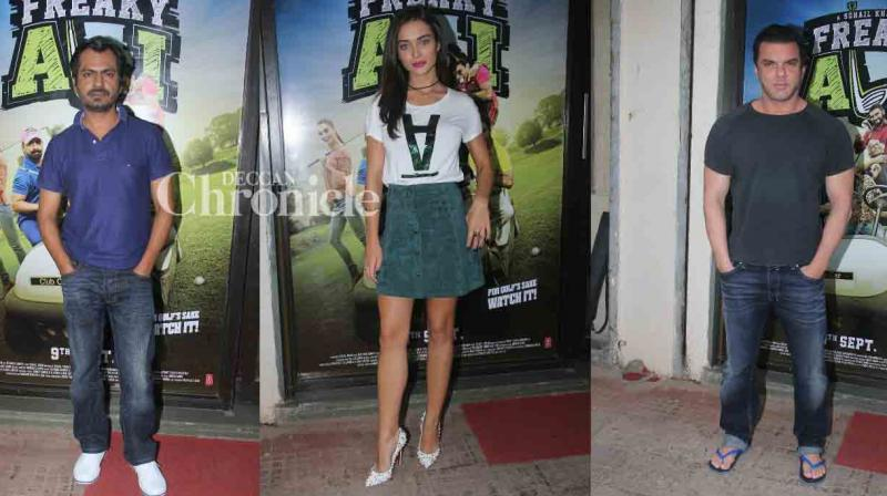 The promotions of Nawazuddin Siddiqui, Amy Jackson starrer 'Freaky Ali' are on in full swing as the release date nears. (Photo: Viral Bhayani)
