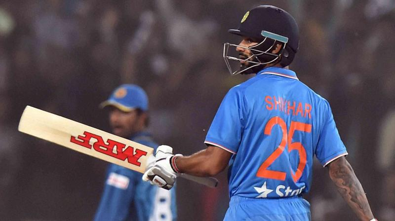 Shikhar Dhawan, who also earned the Man of the Match award for his splendid knock which also saw him register his maiden T20 fifty. (Photo: PTI)