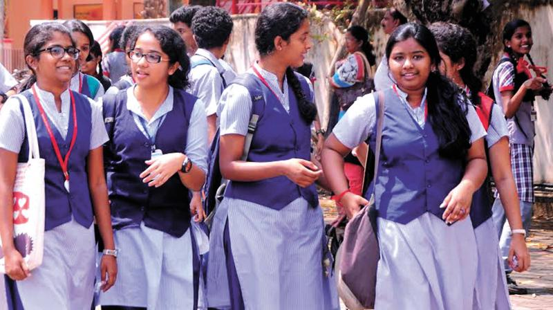 Class XII students coming out from a school in Kochi after attending the CBSE Board examination. (Photo: DC FILE)