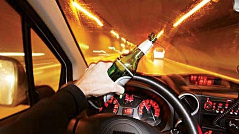 In March, the Cyberabad police had booked 1,083 drunk drivers, of whom 203 were booked in Rajendranagar. (Representational image)