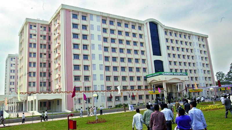 A view of the Gandhi Hospital in Secunderabad. (Photo: Deccan Chronicle)